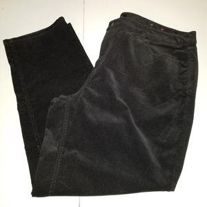 Talbot 22W Black Corduroy Pants